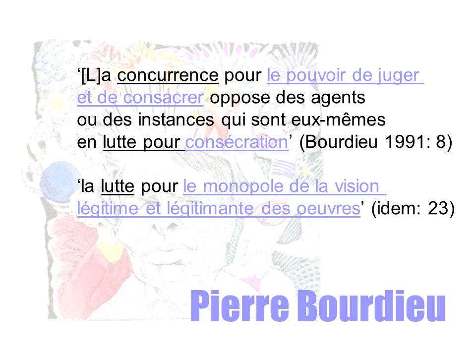 Pierre Bourdieu '[L]a concurrence pour le pouvoir de juger